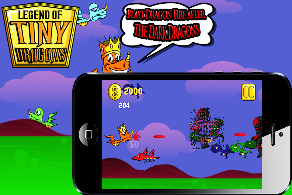 Screenshot A Tiny Dragon Legend – Top Free Mighty Magic Monster Clash Race Shooter Game for iPhone, iPad & iPod Touch